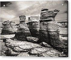 Acrylic Print featuring the photograph Sentinel Rocks by Arkady Kunysz