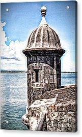 Sentry Box In El Morro Hdr Acrylic Print