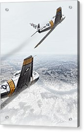 Seoul Sabres Acrylic Print by Peter Chilelli