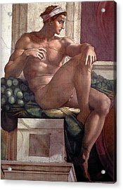 Separation Of Light From Darkness - Ignudo Detail Acrylic Print
