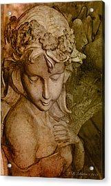 Sepia Angel Acrylic Print