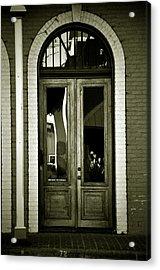 Sepia Door Acrylic Print by Cherie Haines