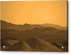 Sepia Mountains Acrylic Print