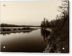 Sepia River Acrylic Print