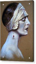 Sepia Siren Acrylic Print by Lynda Robinson