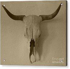 Sepia Skull Acrylic Print
