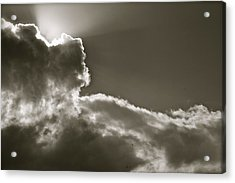 Sepia Sun Ray Acrylic Print by Lennie Green