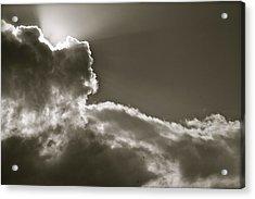 Sepia Sun Ray Acrylic Print