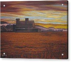 Sepia Sunset Acrylic Print by Harvey Rogosin