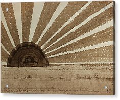 Sepia Sunset Original Painting Acrylic Print