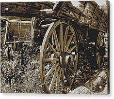 Sepia Wagon Acrylic Print