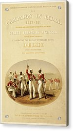 Sepoys At Rifle Practice Acrylic Print by British Library
