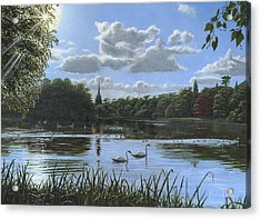 September Afternoon In Clumber Park Acrylic Print by Richard Harpum