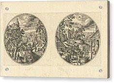 September And October, Adriaen Collaert, Hans Bol Acrylic Print