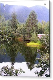 September At The Mendenhall Glacier. Acrylic Print
