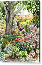 September Garden Acrylic Print by Anne Gifford