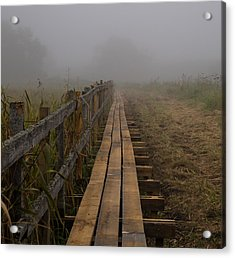 September Mist Hdr - Foggy Day Over Walk Way Acrylic Print by Leif Sohlman
