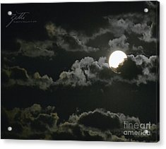 Acrylic Print featuring the photograph September Moon by Suzette Kallen
