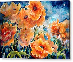 September Orange Poppies            Acrylic Print