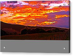 September Smokies Sunrise Acrylic Print