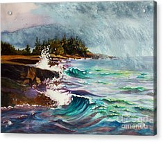 September Storm Lake Superior Acrylic Print