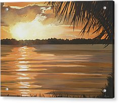 September Sunset 7 32pm Haulover Park Acrylic Print by Lori Royce