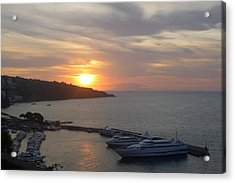 Acrylic Print featuring the photograph September Sunset In Sorrento by Nora Boghossian