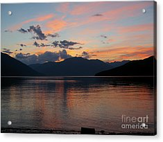 September Sunset Acrylic Print by Leone Lund