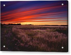 September Sunset North Pole Alaska Acrylic Print by Michael Rogers