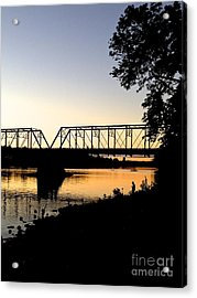 September Sunset On The River Acrylic Print