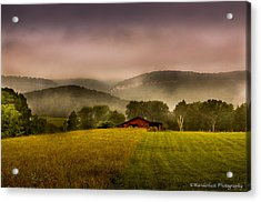 Sequatchie Vally Red Barn Acrylic Print by Paul Herrmann