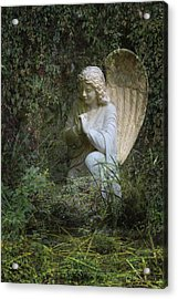 Seraphim Angel Garden Acrylic Print by Ella Kaye Dickey
