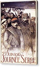 Serbian Day, 1916 Acrylic Print