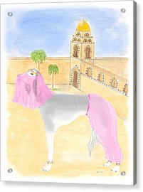 Acrylic Print featuring the painting Serena All Set For Arabian Nights by Stephanie Grant