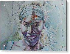 Serena Williams - Portrait 1 Acrylic Print