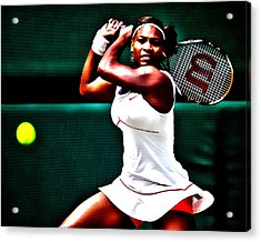 Serena Williams 3a Acrylic Print by Brian Reaves