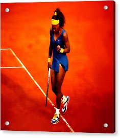 Serena Williams 4a Acrylic Print by Brian Reaves