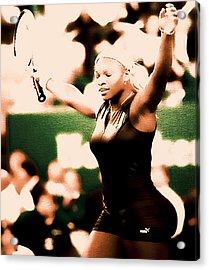 Serena Williams Catsuit IIi Acrylic Print