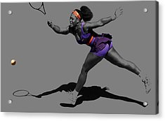 Serena Williams Getting It Done Acrylic Print by Brian Reaves