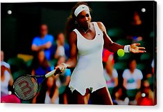 Serena Williams Making It Look Easy Acrylic Print