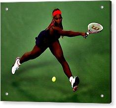 Serena Williams On Point Acrylic Print