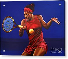 Serena Williams Painting Acrylic Print by Paul Meijering