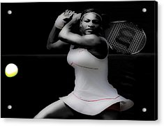 Serena Williams Power Stance Acrylic Print by Brian Reaves