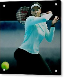Serena Williams Proud Curves Acrylic Print by Brian Reaves