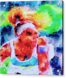 Serena Williams Yes Acrylic Print