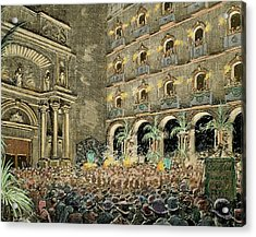 Serenade By Choral Societies Given Acrylic Print by Prisma Archivo