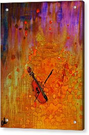 Acrylic Print featuring the painting Serenade For A Rainy Day... by Cristina Mihailescu