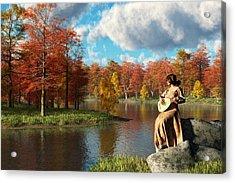 Serenading The Fall Acrylic Print by Daniel Eskridge