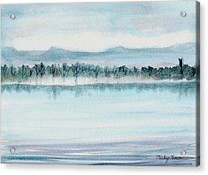 Serene Lake View Acrylic Print by Mickey Krause