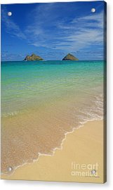 Serene Lanikai Beach Acrylic Print